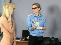 Hot little blonde gets strip searched by her doctor