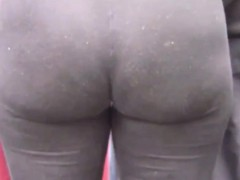 Massive Ass In Tight Leggings Outside