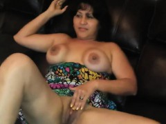 Mature Latin Wife With A Black Dildo