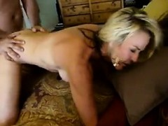 Blonde Girl Having A Great Fuck On The Bed