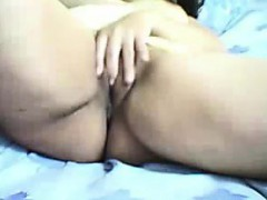 Pretty Amateur Girl Friend Rubs Her Pussy on Webcam