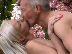 Older and younger man fuck girl She is a real blondie beauty