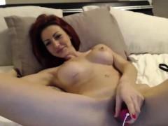 Sexy Big Tit Readhead MILF on Webcam