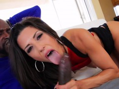 Alexa Thomas rides on a big black dick