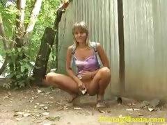 Open-air piss videos