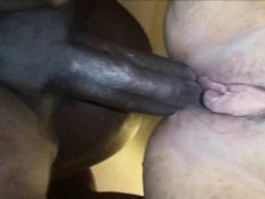Hot white pussy fucked by a big black cock