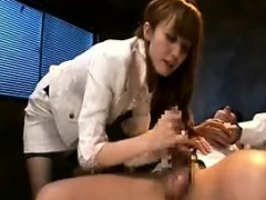 Kinky guy has a sultry babe pleasing his anal hole and blow