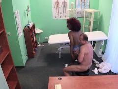 Ebony patient has interracial sex in hospital