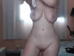 Oiled Up Webcam Girl With Big Tits
