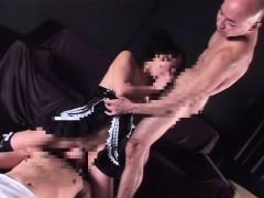 Subtitled bizarre elite Japanese couple sex slave usage