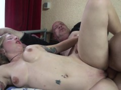 Amsterdam Hooker Plays With Cum In Mouth