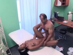 Doctor fucks ebony in his office