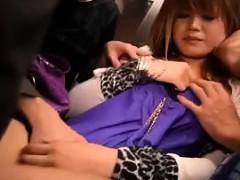 Ravishing Oriental Girl Has Two Boys Kissing And Caressing