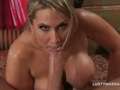 Dick riding and sucking scene with blonde and her masseur