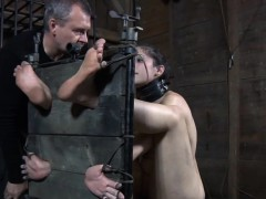 Humiliated young slave canned into submission