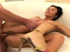 Mature Amateur Wife Homemade Anal With Facial Cum