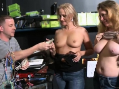 Sexy Ladies Convinced To Flash Boobies For Some Money