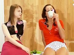 Two latvian chicks Natasha and Beata