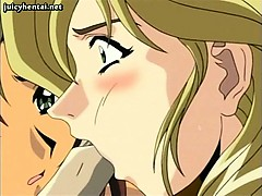 Hentai babes licking old dong