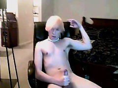 Hot twink scene With the bleach ash-blonde hair and adorable