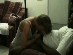 Blonde woman having interracial sex with bbc