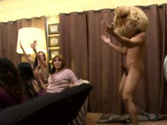 Lovely playgirl gets her pussy drilled during stripper party