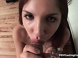 Redheaded Teen Lexi Brooks Sucks Cock on Casting Couch