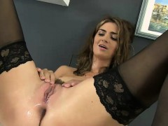 Piss wet Charlotte using a pussy pump