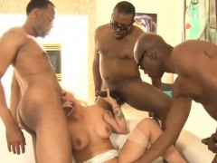 Huge boobs blondie whore Holly Heart double ripped by BBC