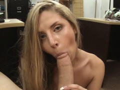 Pornstar offered her fat ass for money