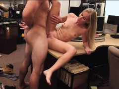 Blonde slut drilled by nasty pawn dude at the pawnshop
