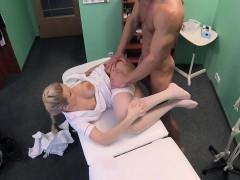White stockings nurse deep fucked