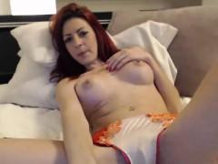 Sexy Redhead MILF Teasing on Webcam - Cams69 dot net