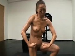 Athletic cougar shows off her hot body and expresses her lo