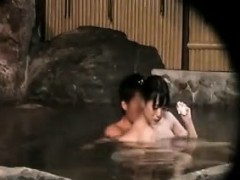 Sexy Japanese women gets undressed and showers before getti