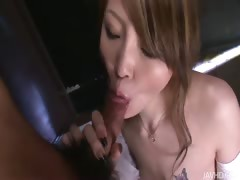 Nasty Yuu jumps all over her blind dating sucking his cock