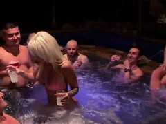 Group of very sensitive raunchy chicks love to have gangbang
