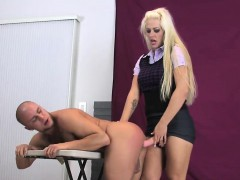 Sweeties ride lovers anal with massive strap dildos and spla