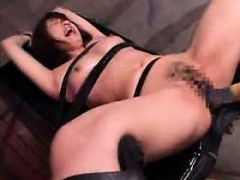 Helpless Oriental babes get their peaches drilled deep with