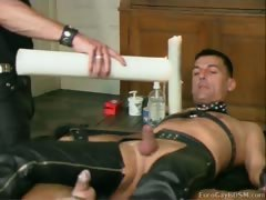 German guy flogged, ass fisted then tortured with hot wax