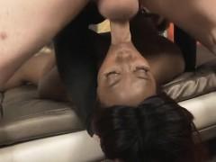 Big Breasted Black Ghetto Slut Gucci XXX Rough Face Fucking