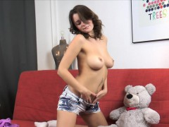 Cindy Plays with Her Teddy Bear