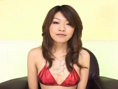 Lusty Asian milf Nagisa Sasaki gets hairy pussy masturbated