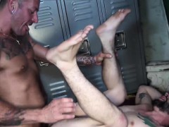 Strong and handsome daddy fucking horny hunks hairy ass