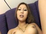 Japanese lesbian women enjoying anal pleasures with toys