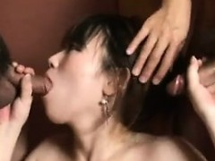 Japanese tart with huge natural boobs