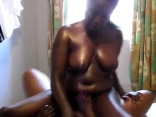 Naughty African lesbians decide to get naughty in the