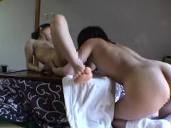 Real Japanese lesbians self shot homemade footage Subtitled