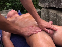 Martin Polnak Spanks And Jerks Off Reece Andrews Outdoors