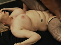 Busty blonde sucking and riding big dick